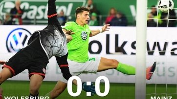 «Вольфсбург» не смог обыграть «Майнц»