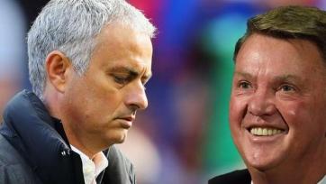 Результаты «Манчестер Юнайтед» под руководством Моуринью хуже, чем во времена ван Гаала