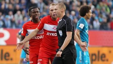 Рефери Иванов получил неудовлетворительную оценку за судейство в матче «Зенит» - «Спартак»