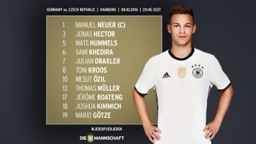 Германия – Чехия, прямая онлайн-трансляция. Стартовый состав немецкой сборной