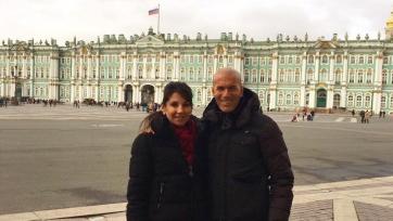 Зидан посетил Санкт-Петербург