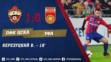 Гол Василия Березцукого принёс ЦСКА победу над «Уфой»