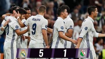 «Реал» ожидаемо разгромил «Легию»