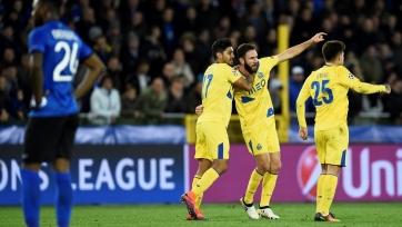 «Порту» вырвал победу на последних минутах  в матче с «Брюгге»
