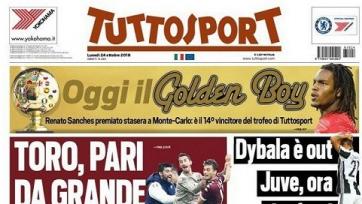 Tuttosport досрочно объявил о том, что Ренату Саншеш стал обладателем премии Golden Boy