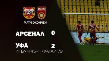 «Уфа» переиграла «Арсенал», сохранив свои ворота на замке