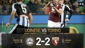 «Удинезе» и «Торино» разошлись миром