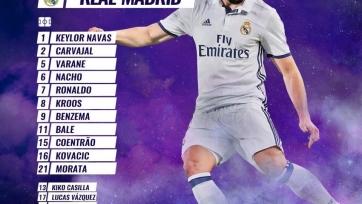 «Легия» - «Реал», прямая онлайн-трансляция. Стартовый состав «Реала»