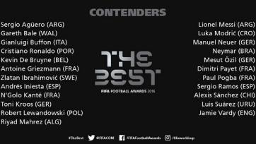 ФИФА обнародовала имена 23-х игроков, претендующих на приз лучшему футболисту года