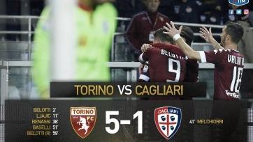 «Торино» разгромил «Кальяри»