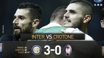 «Интер» забил три безответных мяча «Кротоне»