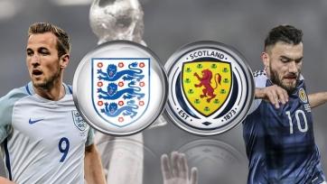 Англия – Шотландия, прямая онлайн-трансляция. Стартовые составы команд