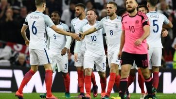 Англия разобралась со сборной Шотландии
