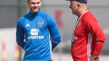 Акинфеев вернулся в общую группу на тренировке сборной России
