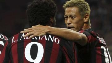 «Милан» выставит на трансфер Хонду и Луиса Адриано