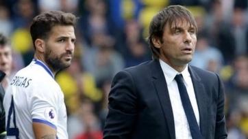 Конте: «Фабрегас не покинет «Челси» зимой»