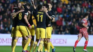 «Атлетико» забил шесть безответных мячей «Гихуэло»