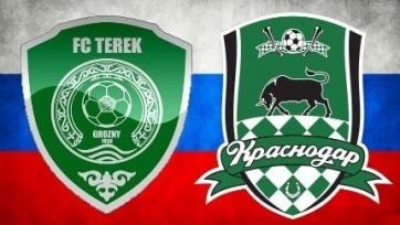 «Терек» - «Краснодар», прямая онлайн-трансляция. Стартовые составы команд