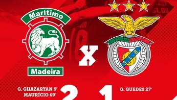 «Бенфика» сенсационно потерпела первое поражение в сезоне