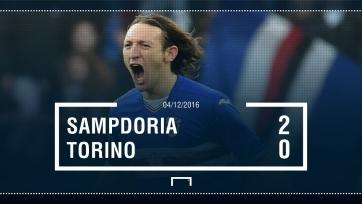 «Сампдория» одержала победу в матче с «Торино»