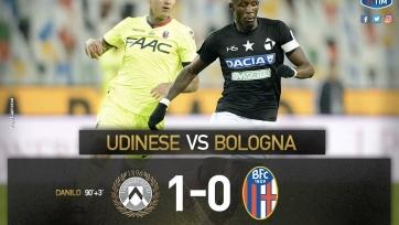 «Удинезе» вырвал победу у «Болоньи» в день юбилея клуба