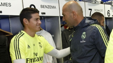 Зидан: «Хамес не покинет «Реал» в январе. Не хочу, чтобы он уходил»