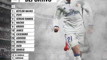 «Реал» - «Депортиво», прямая онлайн-трансляция. Стартовый состав «Реала»