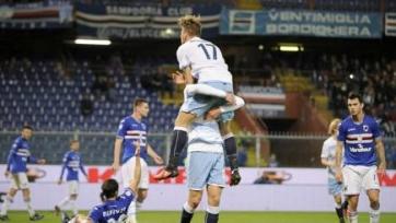 «Лацио» уверенно переиграл в гостях «Сампдорию»