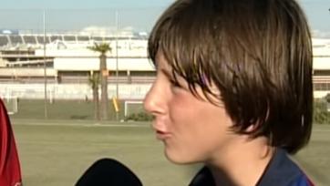 «Барселона» опубликовала редкое видео с юным Лионелем Месси (видео)