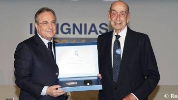 В возрасте ста лет скончался бывший президент «Реала»