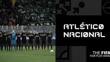 Уступивший победу в южноамериканском Кубке ради «Шапекоэнсе» колумбийский «Атлетико Насьональ» заработал приз фэйр-плей