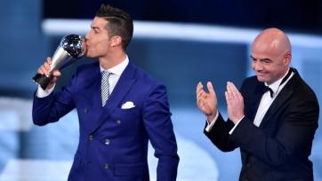 Криштиану Роналду – лучший игрок 2016-го года по версии ФИФА