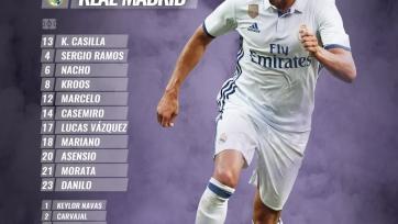«Севилья» - «Реал», прямая онлайн-трансляция. Стартовый состав «Реала»