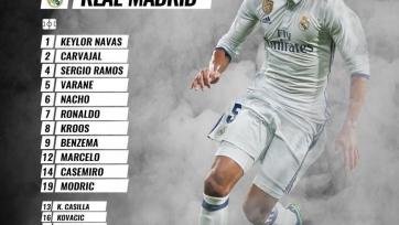 «Севилья» - «Реал» Мадрид, прямая онлайн-трансляция. Стартовый состав «Реала»