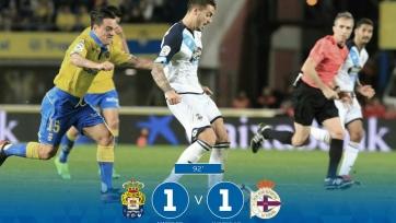 «Лас-Пальмас» и «Депортиво» разошлись миром в первом матче очередного тура Примеры