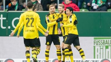 «Боруссия» выиграла у «Вердера», «Вольфсбург» одолел «Гамбург»