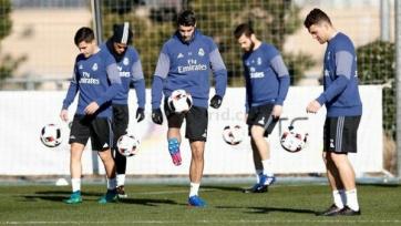 Мадридский «Реал» сразила эпидемия травм, Роналду и Хамес пропустили тренировку