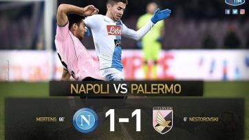 «Наполи» с трудом ушёл от поражения в матче с «Палермо»