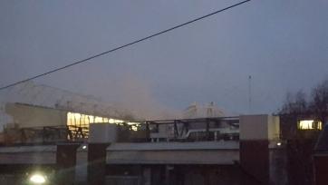 На «Олд Траффорд» вспыхнул пожар