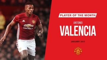 Валенсия признан лучшим футболистом «МЮ» в январе