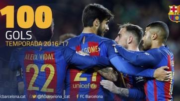 «Барселона» добралась до отметки в сто забитых голов в текущем сезоне