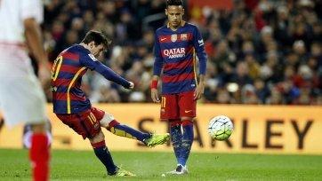 Лионель Месси установил новый клубный рекорд «Барселоны» (видео)