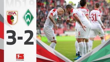 «Вердер» на последних минутах матча уступил «Аугсбургу»