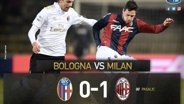 «Милан» выиграл в Болонье, несмотря на два удаления в составе