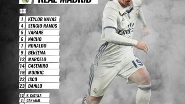 «Осасуна» - «Реал», прямая онлайн-трансляция. Стартовый состав «Реала»
