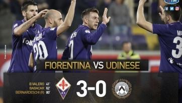 «Фиорентина» забила три безответных мяча «Удинезе»