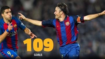 Луис Суарес догнал Луиса Энрике по количеству забитых мячей в составе «Барселоны»