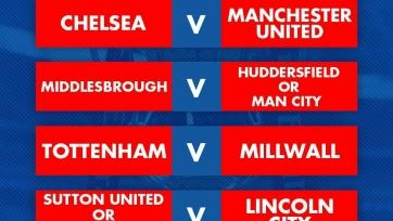 «Челси» сразится с «МЮ» в четвертьфинале Кубка Англии