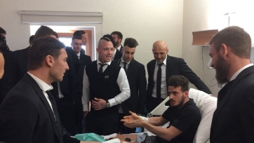 Футболисты «Ромы» навестили Флоренци в больнице