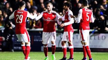 «Арсенал» победил «Саттон» и пробился в четвертьфинал Кубка Англии